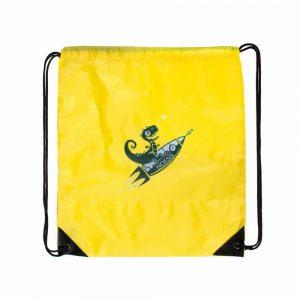 Σακίδιο με κορδόνι Noesis Πύραυλος δεινόσαυρος κίτρινο