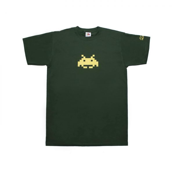 T-shirt Space Invaders πράσινο