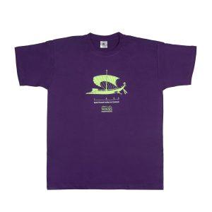 T-Shirt τριήρης μωβ
