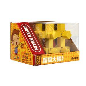 Ξύλινη σπαζοκεφαλιά κίτρινη