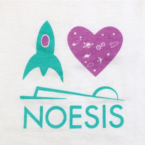 Παιδικό T-shirt Noesis πύραυλος λευκό