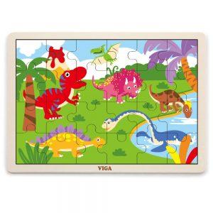 Ξύλινο Puzzle Δεινόσαυροι