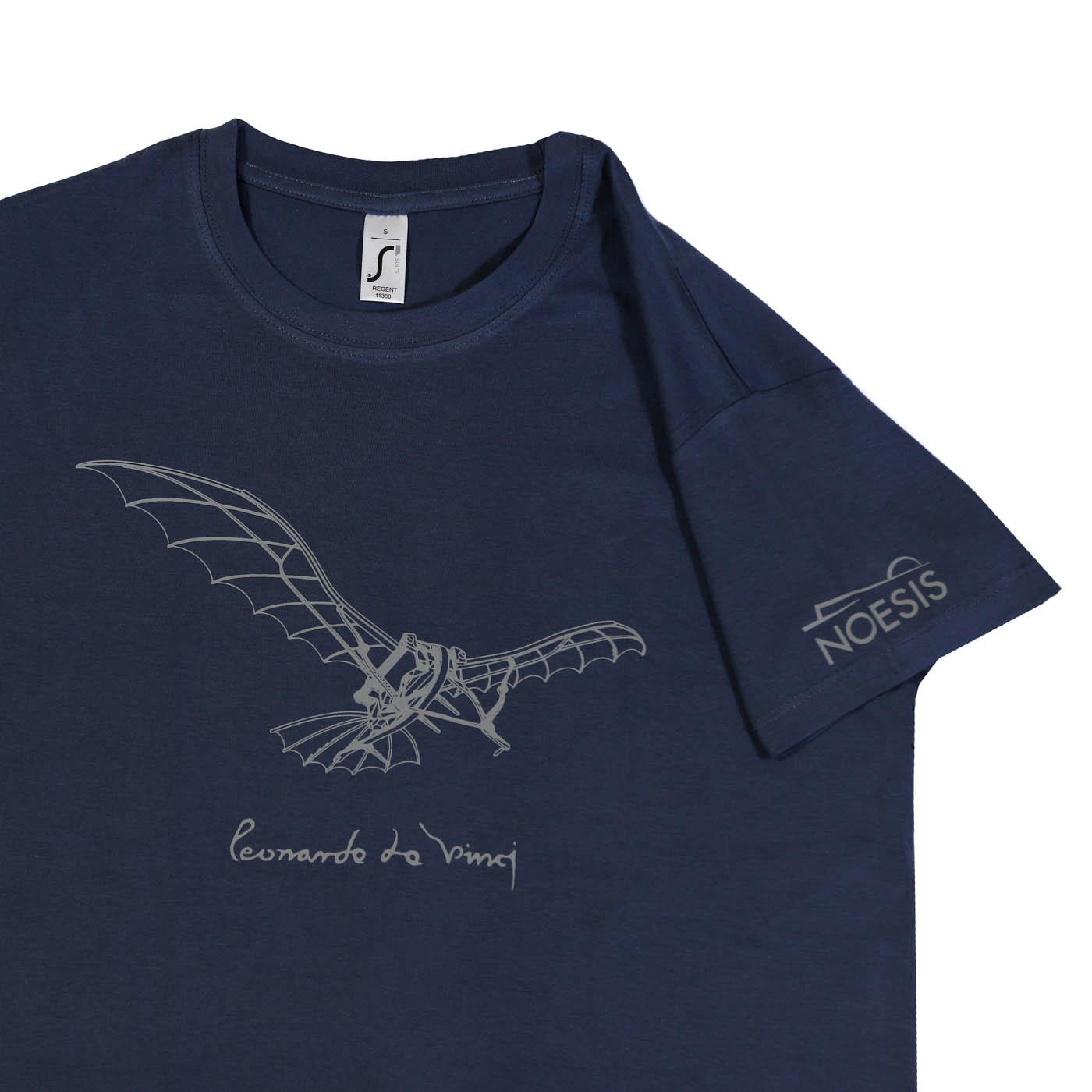 6107f7247c3d T-shirt Leonardo   Πτητική Μηχανή μπλε – Noesis Eshop
